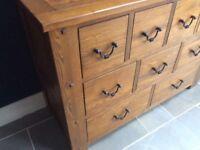 Halo Antibes 9 drawer sideboard in Walnut