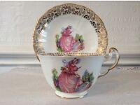 "Imperial Bone China Crinoline Lady Tea Cup & Saucer. "" Pinkie"""