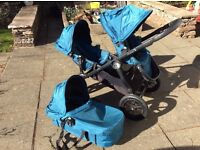 City select baby jogger buggy / pram system use from newborn comes with carrycot and 2 buggy seats
