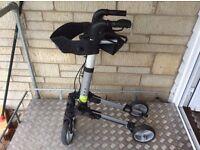 Lightweight folding rollator 4 wheel mobility walker with seat
