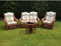 Cane 4 piece conservatory furniture
