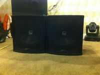 QTX QT15 Passive Subwoofer 15 Inch Bass Bins (spares or repair)