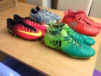 Adidas & Nike football boots used but in excellent condition