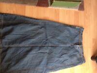 Ladies DKNY long Denim Jeans skirt size 40