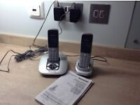 Panasonic Digital cordless and answering system with two phones and bases