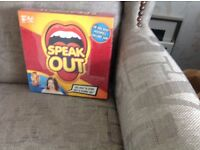 Speak out board game. Still in package unopened.
