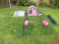 Omlet Eglu classic chicken house & 2 meter run- Pink (also with rabbit hutch converter kit)