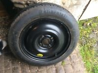 Ford Focus spare wheel with brand new continental tyre