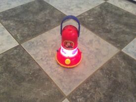 Fireman Sam torch/ lantern with vehicle silhouette maker age 3+