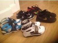4 PAIRS BOYS NIKE TRAINERS + 1 MESSI ADIDAS FOOTBALL BOOTS