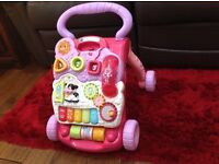 Vtech first steps baby walker, good condition complete with phone (which is often missing)