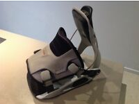 Flow step-in snowboard bindings, to fit size 10 approx (adjustable)