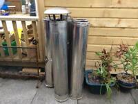 4x second hand twin wall flue pipe and cap