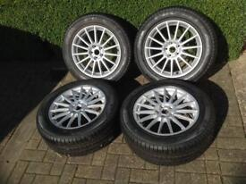 """Jaguar (Genuine) 17"""" Libra Wheels & Tyres, Never Been Fitted , """"As New"""" !!!"""