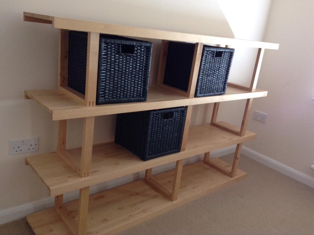 Solid Beech Shelf Unit