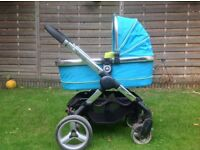 icandy double buggy with carrycot in good working condition