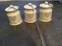 Chopping Board, Kitchen Roll Holder and Storage Jars