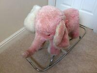 Merrythought Rocking Pony and Rocking Pink Elephant