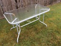 Glass Topped Garden Table. FREE!!!