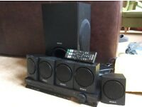 Sony Home cinema system: Minchinhampton- DVD Player plus 5 speakers, Subwoofer, remote control