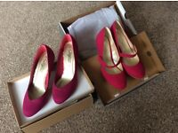 X2 pairs of pink shoes 1 NWT & 1 in very good condition size 4