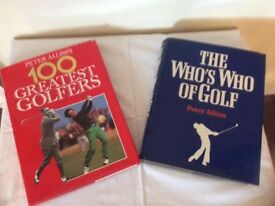 Autographed golf books