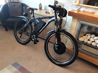 Electric Mountain Bike 30mph Unrestricted - Mint Condition !!!