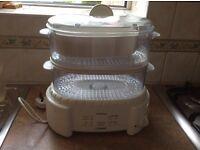Electric 2 Tier Tefal Food Steamer 600