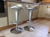 2 adjustable height kitchen stools