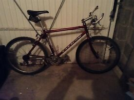 Retro style Saracen tufftrax hard tail mountain bike
