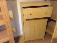 2 Oak effect cabinets for lounge or bedroom