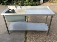 Catering Sink Stainless Steel x 2