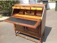 Antique Oak Writing Desk Bureau