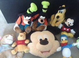 Disney soft toy bundle