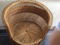 Large wicker peacock chair for sale Good condition Cheltenham area to collect