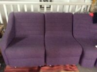 Trendy purple chairs sofa. Ideal for arty seating area or studio, den, kitchen diner.