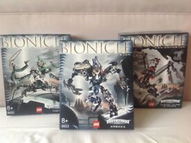 3 boxes Lego bionicle