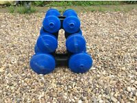Set of dumb bell weights