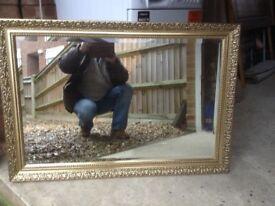 Gilt Framed Living Room Mirror