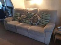 Three and 2 seater reclining sofas
