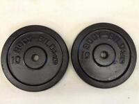 2 x 10kg Bodybild Standard Cast Iron Weights