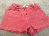 Girls Red MINI BODEN Shorts Age 8 *VGC*