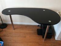 Glass top office table/desk