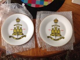 GOOD CONDITION PAIR OF SUFFOLK REGIMENT ORNAMENTAL PLATES