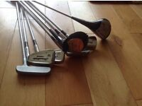 set of mizuno golf clubs 1 and 3 woods 3 5 6 7 irons and tws 5 putter