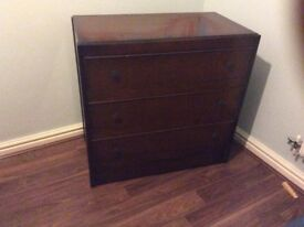 Antique 3 Drawer Chest of Drawers