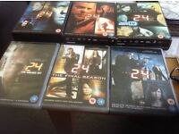 DVDs - 24 'Season 4 to 8 Boxsets including Live another Day