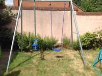 Children's swing and glider set