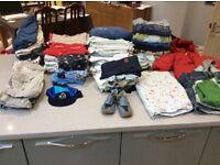 Baby boy clothes bundle 9 - 12 months. 94 items