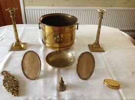 Excellent Condition Collection of Wide Variety of 11 Brass ornaments